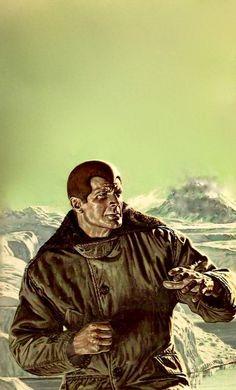 OMNIBUS 11 Doc Savage Bob Larkin cover painting.