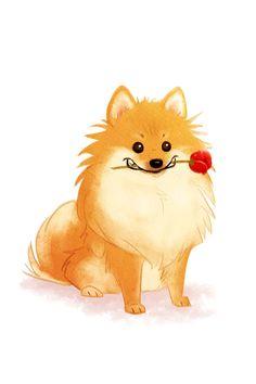 Pomeranian Art, Signed Digital Print DARLING!!!!
