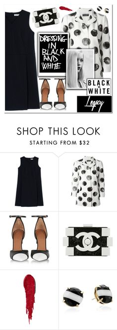"""""""Dressing in Black and White"""" by christinacastro830 ❤ liked on Polyvore featuring Jil Sander, Dolce&Gabbana, Givenchy, GE, Chanel, NARS Cosmetics, Kate Spade, women's clothing, women and female"""