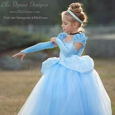 Diy Princess Costume New Cinderella Costume Classic Princess Gown Tutu Dress Elladynae. Cinderella Dress For Girls, Disney Princess Dresses, Girls Dress Up, Princess Costumes, Flower Girl Dresses, Cinderella Costume Kids, Princess Dress Patterns, Cinderella Princess, Cinderella Hairstyle