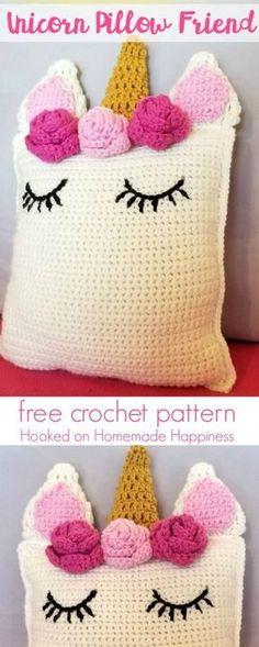 Unicorn Pillow Friend Crochet Pattern