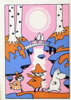 """An immersive new exhibition at London's Southbank Centre features sketches and other artworks by Tove Jansson, the author and illustrator who created the Moomin series. """"Design for Coloring Book. Moomin Cartoon, Moomin Valley, Illustration Noel, Tove Jansson, Book Images, Bunt, New Art, Art Inspo, Fairy Tales"""