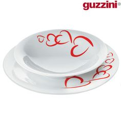 Guzzini 4 Hearts Place Settings - Set of 2
