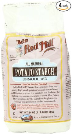 Bob's Red Mill Potato Starch, 24-Ounce (Pack of 4) Resistant starch - not digested but fermented in the intestine as with fibre.