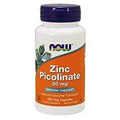NOW Supplements, Zinc Picolinate 50 mg, Supports Enzyme Functions*, Immune Support*, 60 Veg Capsules Best Zinc Supplement, Zinc Capsules, Zinc Tablets, Zinc Supplements, Chewable Vitamins