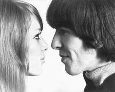 Pattie Boyd and George Harrison before their marriage in 1966, by Robert Freeman