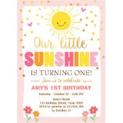 Have a bright First Birthday with this Little Sunshine multi colored card
