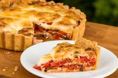 Вкусный и нежирный;)) Помидорно-сырный средиземноморский пирог