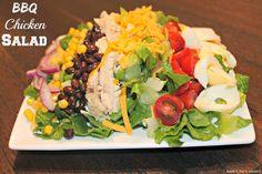 Easy BBQ chicken salad