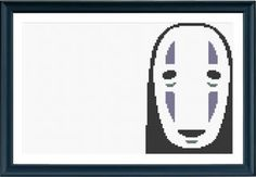 No Face / Spirited Away  Cross Stitch by PinkElephantWorkshop, $3.50