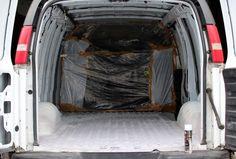 GMC Savana DIY Van Conversion: Update 5 (Insulation, walls, flooring) Diy Van Conversions, Camper Conversion, Truck Camper, Camper Van, Van People, Chevy Express, Van Wall, Van Life, Insulation