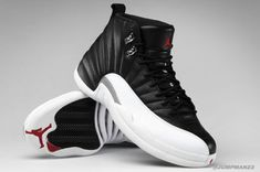 """The Air Jordan 12 """"Playoffs"""" 2012 Retro will soon be in the closets of sn'eads everywhere. After all the First, Detailed, and Up Close """"Looks"""" of the iconic Air Jordan 12 """"Playoffs"""", it's finally dropping tomorrow at Jordan Brand retailers nationwide. Nike Huarache, Zapatillas Jordan Retro, Nike Shox, Nike Roshe, Nike Free Shoes, Nike Shoes Outlet, Running Shoes Nike, Jordan 12s, Air Jordan Shoes"""