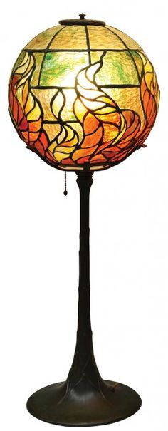 Early Tiffany Studios Fireball lamp