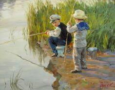 Placer. Artista Vladimir Gusev. |