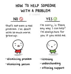 """This is really not so much a guide as a break-down of what I usually see happen when someone has a problem. There's no need to """"out-do"""" the person with a bigger problem of your own, but instead just..."""