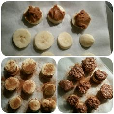 Nutty banana bites