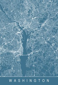 Washington, District of Colombia. Location between the states of Virginia to the west, and Maryland to the east. borders form an equal lateral diamond. ◇ on the Potomac river. Washington Map, City Map Poster, World Cities, City Maps, Illustrations And Posters, Modern Wall Art, Wall Art Designs, Plans, Aerial View