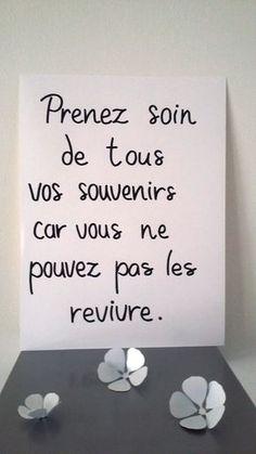 """affiche citation """" prenez soin de tous vos souvenirs..."""" : Affiches, illustrations, posters par stefebricole"""