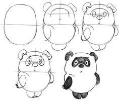 Уроки рисования: как нарисовать: винни-пуха, жирафа, черепаху,мишку тедди, мышку, кота - Поделки с детьми | Деткиподелки