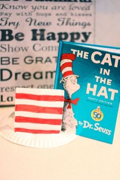 "Paper plate ""Cat In The Hat"" Hat from 'I Can Teach My Child' blog"