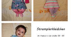 Stramplerkleidchen Das Stramplerkleidchen gibt es in den Größen 56 - 80 und verschiedenen Variationen: Füßchen, Knopfleiste und Rocktei...