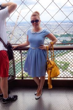 What a view! #peterpancollar #bluedress