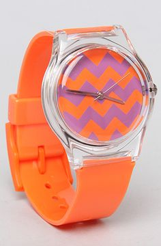 The Purple Zig Zag Watch with Orange Band by May 28th