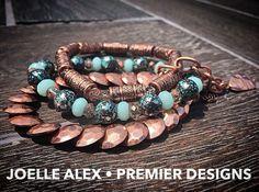 "The NEW @premierdesignsinc ""Prestely"" stretch bracelet set is simply gorgeous! Wear the bracelets together, or separate them!! Facebook.com/CiboloJewelryLady"