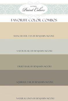 Favorite Paint Colors: Questions + Manchester Tan Color Combination
