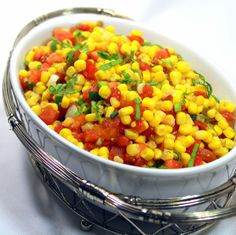 Inspired By eRecipeCards: Heat and Sweet Corn Salsa - Grilling Time Side Dish