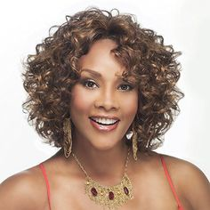 Vivica A. Fox CHILLI-V Synthetic Fiber, Deep Lace Front Wig in Color TP61327 ** Check this awesome product by going to the link at the image.