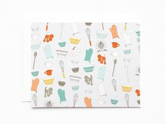 Baker's Notecard Set  Illustrated Notecards by PrintStitchAndPaste