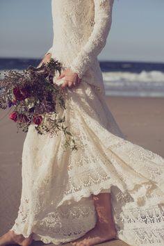 seaside lace gown | photo joseph willis | via: the lane