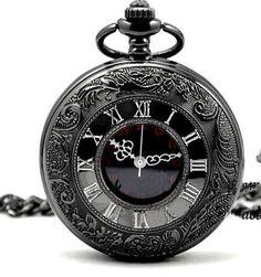 Black Quartz Retro Vintage Antique Steampunk Necklace Pendant Pocket Watch for sale online Quartz Pocket Watch, Steampunk Watch, Skeleton Watches, Pocket Watch Antique, Antique Watches, Vintage Watches, Breitling, Vintage Men, Cartier
