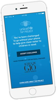 Go 30 minutes (or more!) without your cellphone, and help raise money for kids who need clean water!