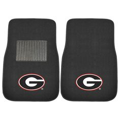 Georgia Bulldogs NCAA 2-pc Embroidered Car Mat Set