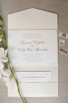 Genny + Barr | New Orleans Wedding. Invitation suite, vintage stamps, portfolio…