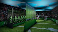 Heineken International | experience center/ UEFA Champions League room | Amsterdam. #interior #experience Soccer Theme, Soccer Fans, Nike Soccer, Soccer Store, Experience Center, Sports Marketing, Uefa Champions League, Experiential, Real Madrid