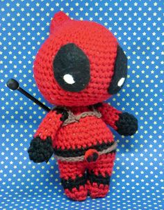Deadpool Inspired by Marvel comics PDF crochet pattern by AmigurumiBarmy on Etsy