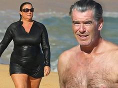 PICTURE EXCLUSIVE: Forever his Bond girl! Pierce Brosnan enjoys beach day  with wife Keely Shaye Smith in Hawaii