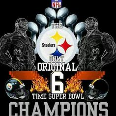 Steelers, the only 6 time Super Bowl champs! Steelers Images, Pitsburgh Steelers, Here We Go Steelers, Steelers Stuff, Pittsburgh Steelers Wallpaper, Pittsburgh Steelers Football, Pittsburgh Sports, Steelers Terrible Towel, Steeler Nation