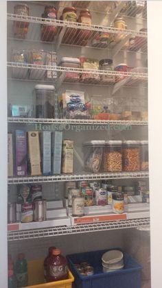 #Pantry Renovation ~ Fantastic Use Of Space. #Closet Maid Adjustable White  Wire Shelving