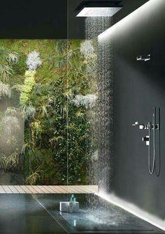 Modern Bathroom Shower Design Master Bathroom Contemporary Bathroom Design Ideas Walk In Shower Rain Showerhead Deavitanet Walk In Shower Designs Unique Modern Bathroom Interiors Dream Bathrooms, Beautiful Bathrooms, Luxury Bathrooms, Modern Bathrooms, Coolest Bathrooms, Glamorous Bathroom, Outdoor Bathrooms, Rain Shower Bathroom, Jungle Bathroom