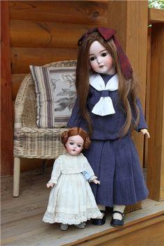 """Armand Marseille Queen Louise 25"""" и 12"""" / Винтажные антикварные куклы, реплики / Бэйбики. Куклы фото. Одежда для кукол"""