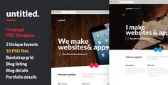 Untitled - Onepage Parallax PSD Template by nasirwd   Untitled is a Premium One page template best suitable for Design agencies, freelancers, photographers, personal portfolios etc