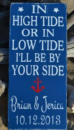 2014 nautical beach wedding signs, navy blue beach wedding decor www.dreamyweddingideas.com