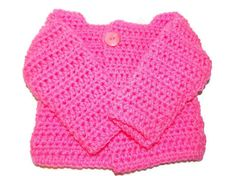 Newborn Girl 03 month Crochet Sweater in by MrsSchafferCreations, $22.00