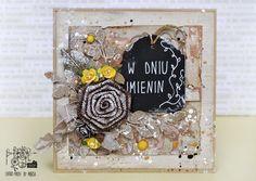 Retro Inspiracje: Kartka imieninowa Marty / Retro Inspirations: Marta's name day card