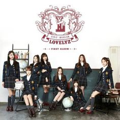 """""""Girls' Invasion"""" is the debut album recorded by South Korean girl group Lovelyz. It was released on November 2014 by Woollim Entertainment. 1 Girl, First Girl, Pop Website, Pop Albums, Woollim Entertainment, Pop Songs, Original Music, Korean Music, Mp3 Song"""