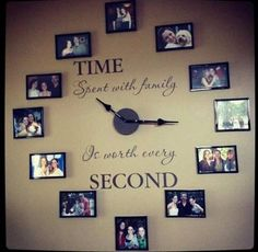 nice clock with pictureof family